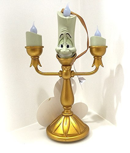 Disney Parks Beauty and the Beast Lumiere Light Up Figurine Ornament NEW by Disney