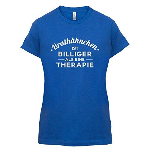 Brathähnchen ist billiger als eine Therapie - Damen T-Shirt - 14 Farben Royalblau