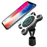 J&A Wireless Car Charger, [aktualisiert] Magnetic Car Mount Halter mit 360 ° -Drehung, QI 10W Fast Wireless Für Samsung Galaxy Hinweis 8 / S8 / S8 + / Hinweis 5, 7.5W Für iPhone 8/8 Plus/X
