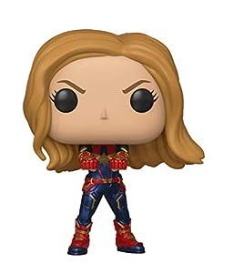 Funko- Pop Bobble: Avengers Endgame: Captain Marvel Capitana Collectible Figure, Multicolor, Estándar (36675)