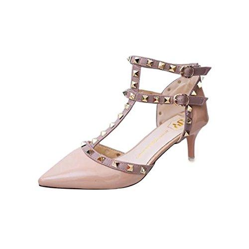 YIBLBOX Damen Niets Ankle Strap Stilett Partyschuhe Schuhe High Heels Kleid-Partei Pumps Sandalen Ankle Strap T-strap-pumps