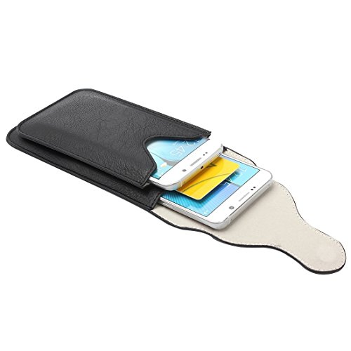 Wkae Case Cover Für Samsung Galaxy S7 / G930 &S7 Rand / G935 &S6 / G920 &S6 Rand / G925, iPhone 6 Plus &6s Plus und andere 5,1-5,5 Zoll Smart Phones Klassik Elefant Textur Vertical Flip Ledertasche Gü Black
