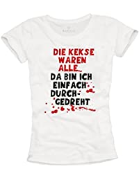 16dcc051de60 MAKAYA Funny T-Shirt for Womens with German slogan  THE COOKIES WERE EMPTY