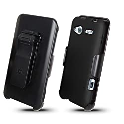 BC Hard Cover Combo Case Holster for T-Mobile HTC Radar -Black