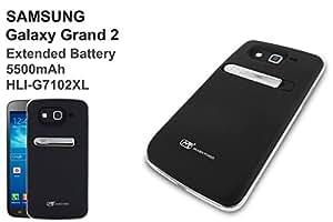 Power-Mugen Samsung Galaxy Grand 2 G7102–G7105 5500mAh Grand 2 LTE Batterie Externe avec Coque Noir