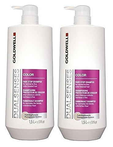 Goldwell Color Shampoo mit Pumpe 2 x 1500 ml Dualsenses Farberhalt FadeStopFormula GW by Goldwell