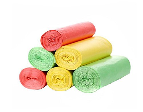 3rotoli Garbage Rubbish Trash Wastebasket Bags plastica rinforzato inodori ispessimento punti off tipo di protezione dell' ambiente domestico per la spazzatura, per casa e hotel color random