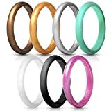 XJYA Silicone Engagement Rings for Women Stackable Rings Silicone Wedding Ring for Women Silikon Hochzeit Ring Verlobungsring Ringe Für Frauen Hochzeit Band,Set3,10