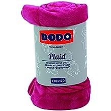 Dodo 27605130Plaid Tacto Peluche 170x 130cm, color morado, fucsia, 130 x 170