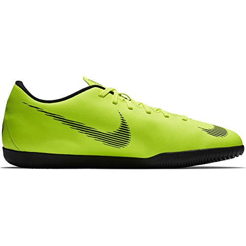 more photos ce56e e27df Nike Men's VaporX 12 Club (IC) Indoor Soccer Shoe Volt/Black Size 12