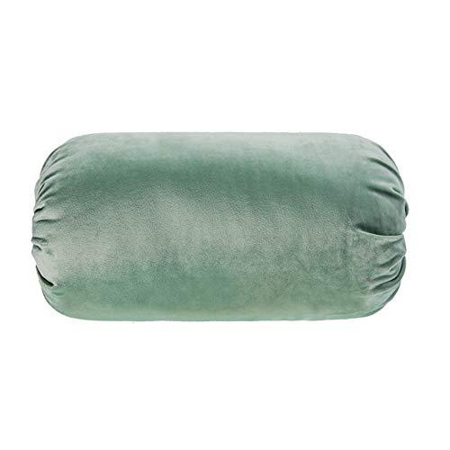 MSM Runde Velvet Kissen Sitzkissen, Hollowfibre Gefüllt Kropf Yoga-Begleiter Schöne Süßigkeiten Weich Sofa Sitzkissen Waschbar-grün 20x40cm(8x16inch) -
