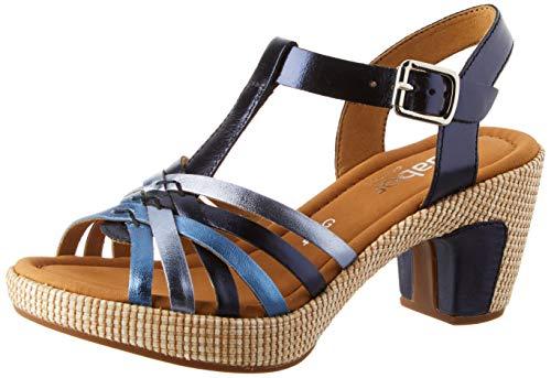 Gabor Shoes Damen Comfort Sport Riemchensandalen, Blau (Pazifik (Ba.St) 96), 44 EU 44