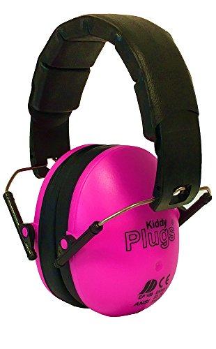 KiddyPlugs Kinder Kapsel Gehörschutz, Farbe: PINK - top Qualität, schadstoffarm, Lärmschutz Kopfhörer, faltbar, größenverstellbar, weich gepolstert - auch für Jugendliche und Erwachsene