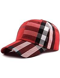 Hulday Gorra para Mujer Rejilla Moda Gorra Clásica De Béisbol Visera Estilo  Simple Exterior Ajustable Sombrero 48d11078ff4