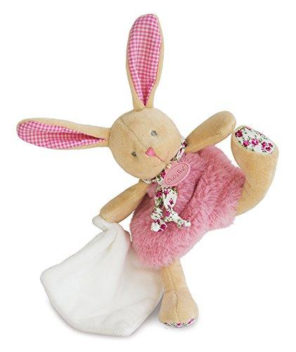 Baby Nat 'Poupi marioneta de peluche diseño de conejo rosa
