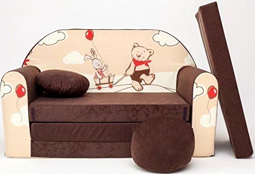 Kindersofa Spielsofa Minicouch aus Schaum Kindersessel Kissen Matratze Farbwahl (32)