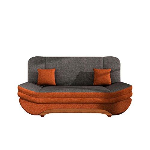 Sofa Weronika mit Bettkasten und Schlaffunktion, Schlafsofa, Große Farb- und Materialauswahl, Couch vom Hersteller, Wohnlandschaft (Lux 10 + Lux 06)