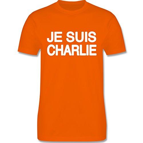 Statement Shirts - JE SUIS CHARLIE - Anschlag Charlie Hebdo Protest - Herren Premium T-Shirt Orange