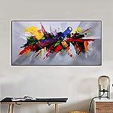 XIAOXINYUAN Große Größe Multicolor Abstrakte Ölgemälde Kunst Leinwanddruck Poster Malerei Moderne Wandkunst Bild Home Decor 60X120 cm