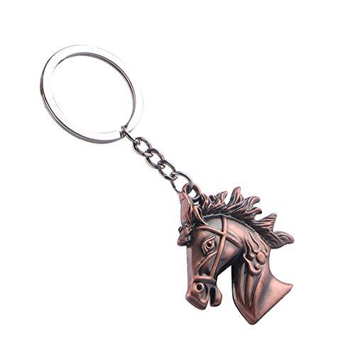 Chakil 1 Stück Weihnachten Schlüssel Tierkreis Pferdekopf Form Keychain Metall Keychain Hängende Dekoration Kleines Geschenk -