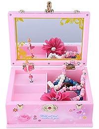 Caja de música Wal frontal, caja de música con forma de caja de tesoro, caja de almacenamiento para joyas, regalo de…