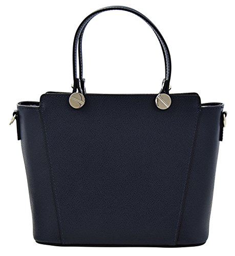 ADRIANA Top-Handle Bag Tote Handbags Women's Genuine Leather Made in Italy Handcraft-darkblue