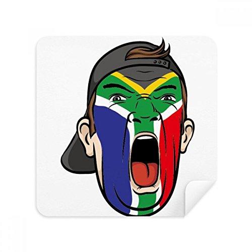 DIYthinker Südafrika-Flaggen-Gesichtsverfassung Mütze Brille Reinigungstuch Telefon Screen Cleaner Suede Fabric 2Pcs