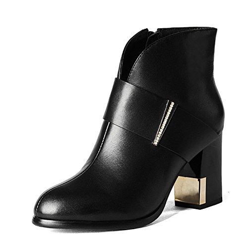Rough en automne et hiver bottes avec tête ronde Martin/ botte vent d'Angleterre/ automne high heel boots/ nue fashion bottes A