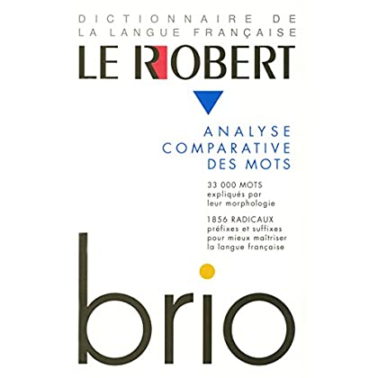 Le Robert Brio : Analyse comparative des mots
