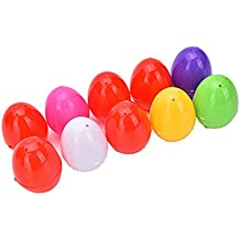TRIXES Pack de 6 huevos de Pascua vacíos de colores para rellenar con sorpresa