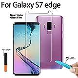 Auswaure - Protector de Pantalla para Samsung Galaxy S8 (Cristal Templado y tecnología de dispersión líquida, con Carcasa Curvada 3D y luz UV, Cristal Compatible con Samsung S8)