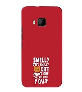 EPICCASE Smelly cat Mobile Back Case Cover For HTC One M9 (Designer Case)