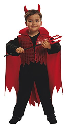 Imagen de my other me  disfraz de demonio, para niños de 5 6 años, color rojo viving costumes mom00066
