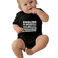 PKLUAS Baby Boy Girls Unisex The Chemistry Of Love Infant Romper Jumpsuit Short Sleeve Outfit For Newborn Gift (Size 0-24 Months)