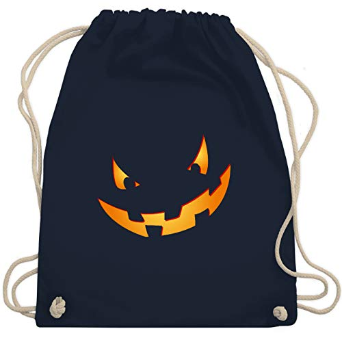 (Halloween - Kürbisgesicht klein Pumpkin - Unisize - Navy Blau - WM110 - Turnbeutel & Gym Bag)
