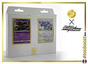 Nidoking 59/181 Y Ptéra (Aerodactyl) 130/181 - #tooboost X Soleil & Lune 9 Duo de Choc - Box de 10 Cartas Pokémon Francés + 1 Goodie Pokémon