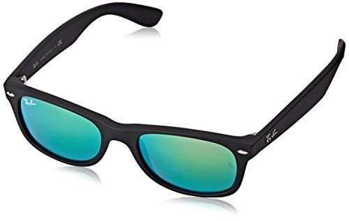 Ray Ban Unisex Sonnenbrille RB2132, Gr. 52mm (Gestell: schwarz,Gläser: grün gespiegelt grün)