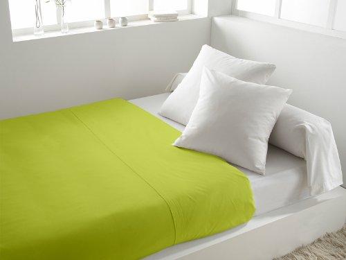 Lenzuolo piano in cotone 260 x 300 cm tinta unita verde anice