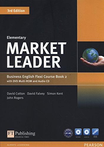 Market leader. Elementary. Coursebook. Ediz. flexi. Per le Scuole superiori. Con espansione online. Con CD-Audio. Con DVD-ROM: Market Leader Elementary Flexi Course Book 2 Pack