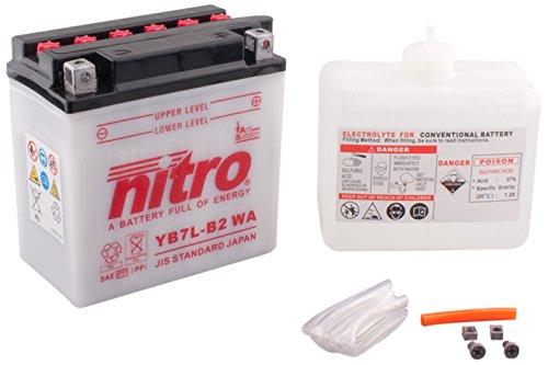 NITRO YB7L-N- WA-B2-Batteria Moto aperto con acido Pack