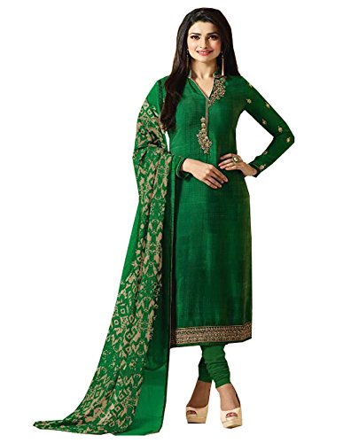 C&H Women's Crepe Dress Material (SKC-6101_Free Size_Green)