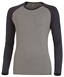 Medico Damen Langarm Unterhemd Funktionsshirt Thermowäsche - Anthrazit/Melange/Grau - 40