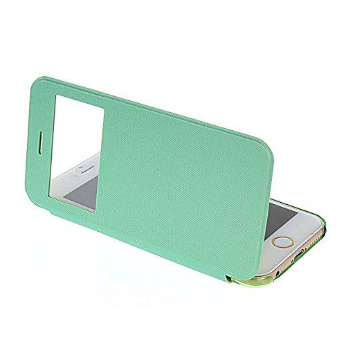 MOONCASE Etui Housse Cuir Portefeuille Case Cover Pour Apple IPhone 6 Noir Vert 02