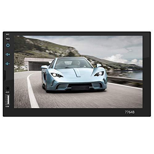 lā Vestmon Doppel-Din-Autoradio 7-Zoll Touchscreen In-Dash-Autoradio Audio-Video-Radio Unterhaltungsplayer mit Lenkradsteuerung/UKW / MW/AUX-Tuner und HD Rückfahrkamera beschenken Support-Telefon