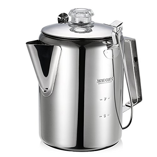 Lixada Outdoor Stainless Steel Percolator Coffee Pot Coffee Maker for Camping Home Kitchen. 418 2B7ZOqGCL