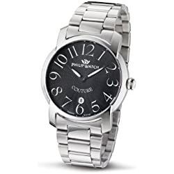Philip Ladies Couture Analogue Watch R8253198525 with Quartz Movement, Black Dial and Stainless Steel Case