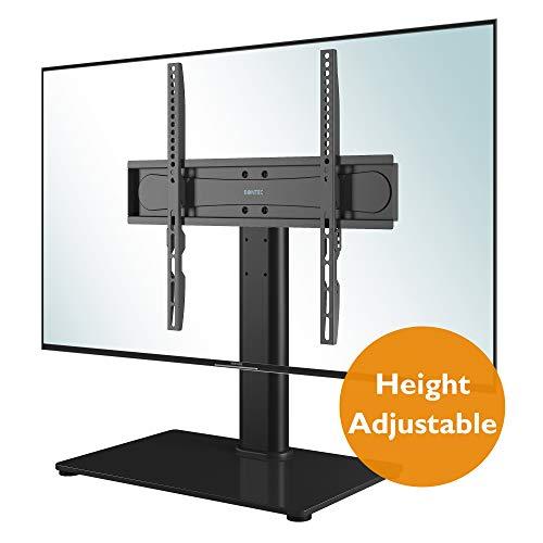 BONTEC Universal Soporte Altura Ajustable para TV Base del Televisor con la Pantalla 26-55 Pulgadas...