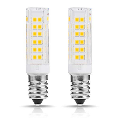 2-Pack Standard E14 Base Small Edison Screw Corn Light Bulbs, Fulighture 7W / 55W Incandescent Bulb Equivalent Energy Saving LED Light Bulbs, 500LM, Cool White 6000K, 360° Beam Angle, Non-Dimmable -