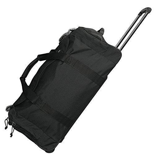 Sport und Reise Rolltasche 70 Liter Jumbo Big-Travel Trolley Koffer Rucksack Schwarz oder Flecktarn (Schwarz)