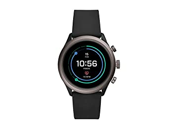 Fossil Mens Smartwatch with Silicone Strap FTW4019